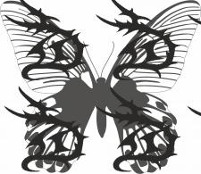 Отрисовка бабочки по фото