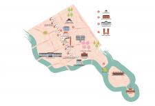 Карта Нормальма района Стокгольма для брошюры