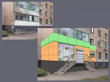 Отрисовка фасада здания