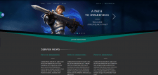 An example of a game server site.