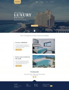 """Вёрстка многостраничного сайта """"LUXURY hotels"""""""
