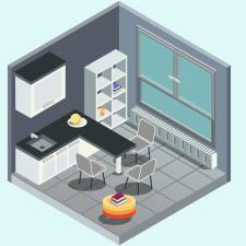 Кухня в изометрии