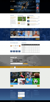 Landing page Soccer club