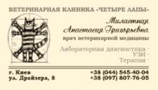 дизайн визитки для ветеринарного врача
