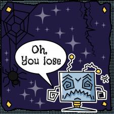 Проиграшное окошко для браузерной игры