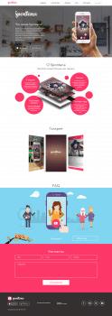 Landing Page - Мобильное приложение Spontana
