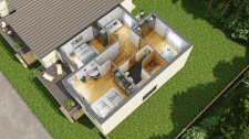 3D планировка 2 этаж