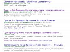Продвижение сайта по доставке суши и пиццы