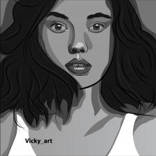 Портрет в стиле поп-арт