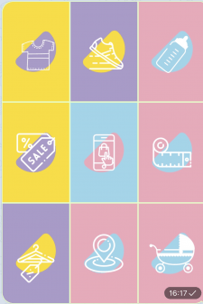 Обложки для stories Instagram детский магазин