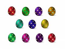 Пасхальные яйца в Иллюстраторе