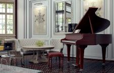 Хорошо отдохнуть у рояля. 3D max.