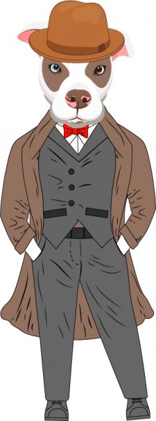 Иллюстрация собака-детектив