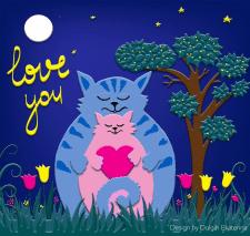 Весенние, влюбленные котики
