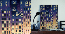 Пейзаж ночной город