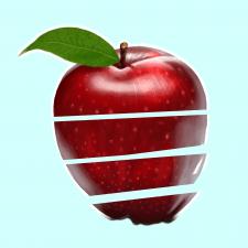 Выризаное яблоко