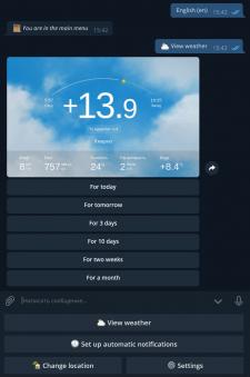 Telegram-бот погоды