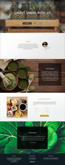 Пример Lending Page