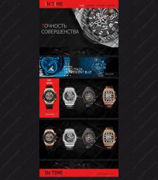 дизайн магазина часов-в черном