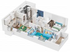 3d vizualization flat