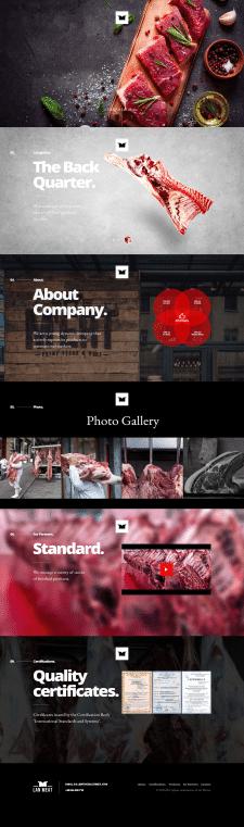 Сайт каталог Lan Meat