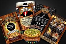 Макеты текущей полиграфии Nick's Pizza&Pub (USA)