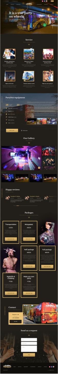Party Bus – Landing Page