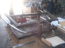 Откидной кондуктор для сборки и сварки арки