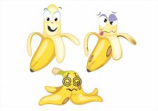 "Векторный персонаж ""Банан"""