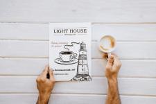 Листовка для кафе «Light House»