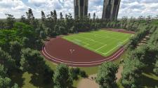 Стадион в городе Екатеринбург