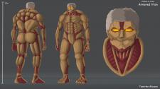Концепт арт Бронированного Титана из аниме Атака Т