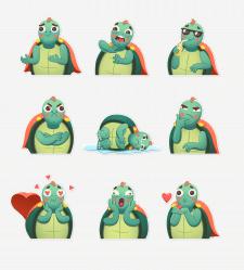 Stickers | Louie little turtle
