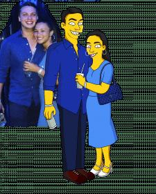Портрет в стиле Симпсон.
