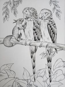 Анималистическая иллюстрация для детской книги