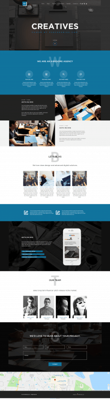 Шаблон сайта для Веб-студии