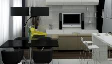 Кухня-студия (квартира для семьи)