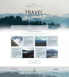Tour Agency TRAVEL - landing page