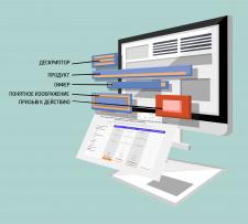 Элемент для дизайна сайта в стиле flat