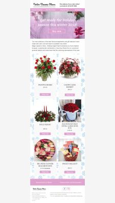 Создание письма и рассылка для магазина цветов.