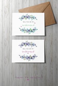 Свадебная открытка-приглашение