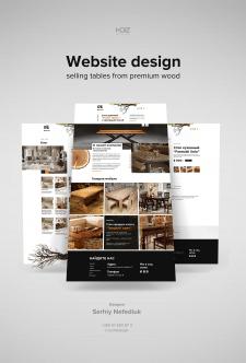 Дизайн сайта продажи мебели премиум класса