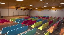 Дизайн актової зали музичної школи в Україні