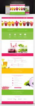 Дизайн Landing page. Smoothie ;)