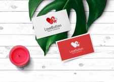 LoveButton logo design