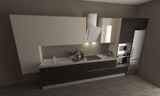 Кухня Шпон + Краска 2 вариант