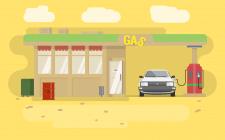 Gas Station Иллюстрация