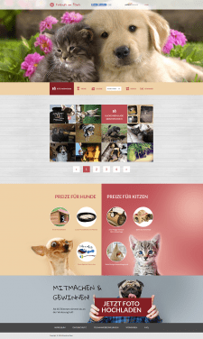 Friends on Paws home page with gallery