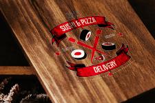 Вариант логотипа для службы доставки суши