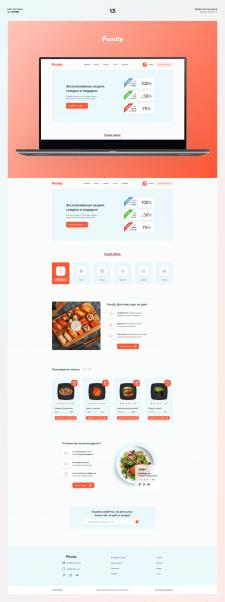 Дизайн сайта фирмы доставки еды Foodly